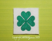 Clover, Four Leaf Clover, INSTANT DIGITAL DOWNLOAD, St Patricks Day Embroidery Design for Machine Embroidery 2x1