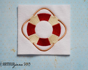 Lifesaver, Lifering, INSTANT DIGITAL DOWNLOAD, Nautical Embroidery Design for Machine Embroidery 4x4