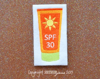 SPF 30 Lotion, INSTANT DOWNLOAD, Embroidery Design for Machine Embroidery 4x4