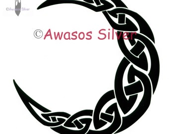 Celtic Knotwork Moon Decal