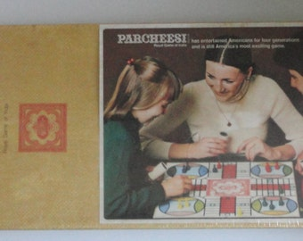 1975 Parcheesi Royal game of india. Selchow & Righter Co.