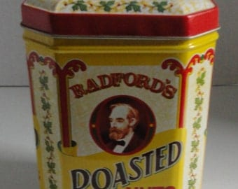 Badford's Roasted Nuts Tin can