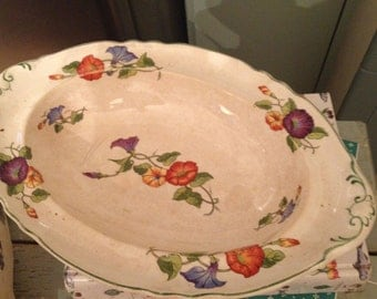 Vintage Pansy Covered Casserole Dish