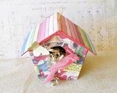 Embellished Paper Mache Bird House