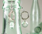 Eco Friendly Recycled Glass Bead Earrings Floret Dangle Drop Earrings