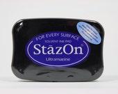 Tsukineko StazOn Solvent-Based Ink Pad in UltraMarine