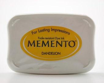 Tsukineko Memento Dye Ink Pad - Dandelion