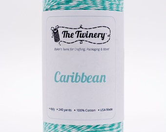 Full Spool - 240 Yards - Caribbean Teal Blue Baker's Twine
