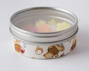 Fabric Deco Tape Brown Bears on White - Scrapbook Embellish Decorate - Colorful and Fun - Single Roll No. F99