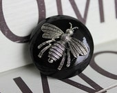 Bee Drawer Knobs - Cabinet Knobs CUSTOM Colors possible (WK05)