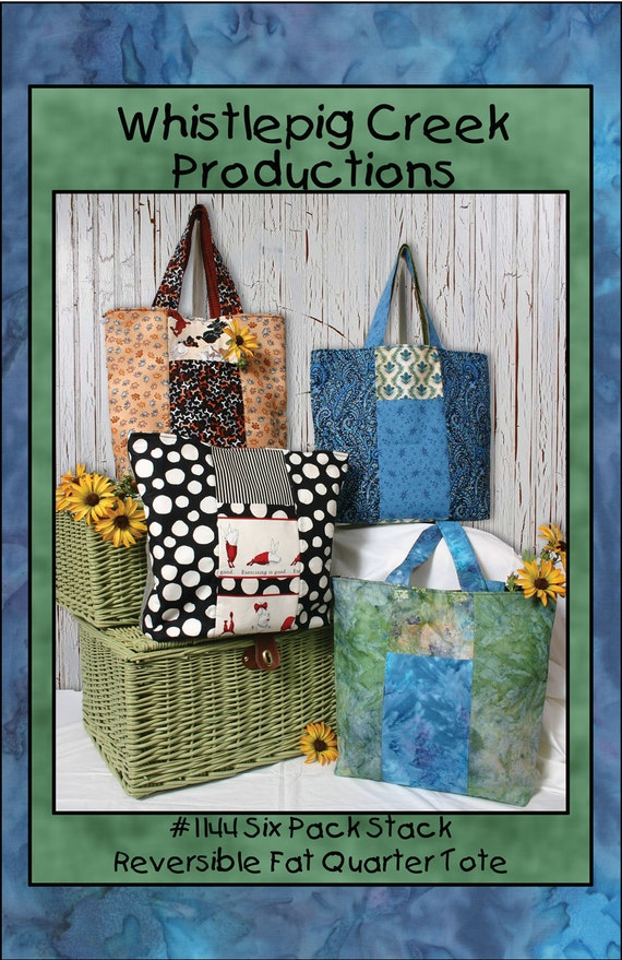 PDF - Six Pack Stack Tote Sewing Pattern