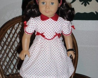 1930s Dress for American Girl Kit Ruthie 18 inch dolls