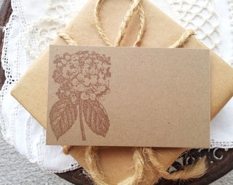 Hydrangea Place Cards Food Buffet Label Tags Wedding Set of 10