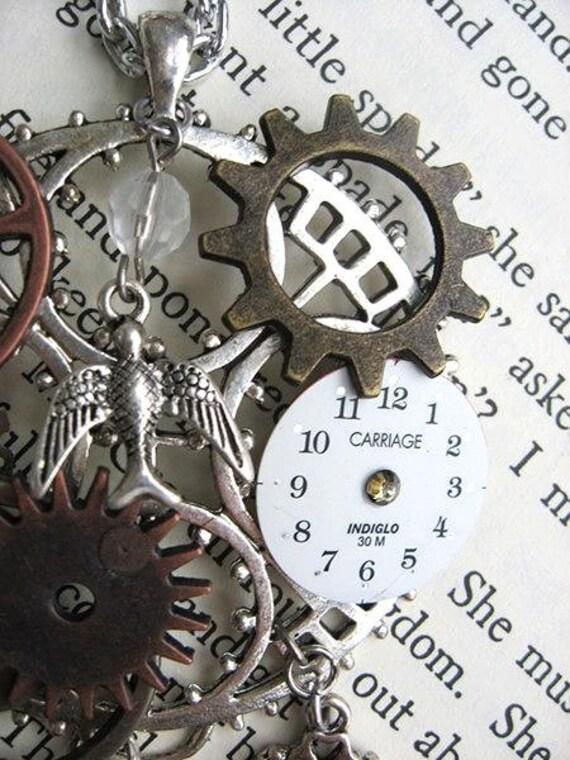 Silver Like Clockwork Steampunk Necklace