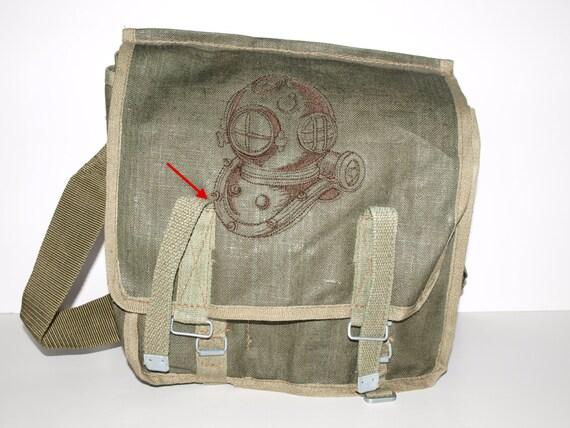 OOPS Sale Canvas Rucksack - Deep Sea Helmet - Custom Embroidered Design