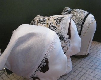 Elizabethan Forehead cloths for your coif