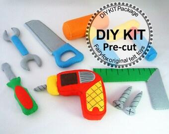 DIY felt Toolbox KIT Package--K-T09