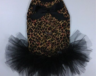Cheetahlicious Dog Tutu Harness Dress Size XXXS Through Medium by Doogie Couture