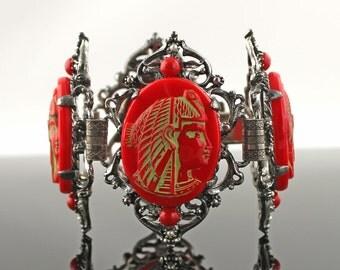 SALE - Vintage Egyptian Revival Bracelet - 1950's