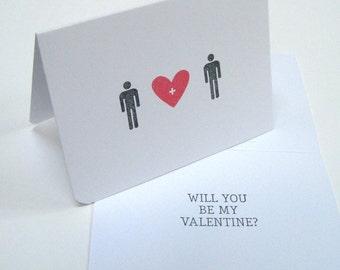 Gay Valentine Card/Gay Love/Valentines Day Card/Alternative Valentine/Valentine for Him/I Love You/Valentine Greetings/Happy Valentines Day