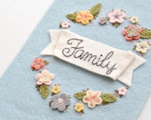 Family Embroidered Wall Hanging