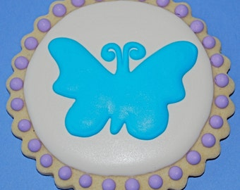 Butterfly Decorated Sugar Cookies (12)
