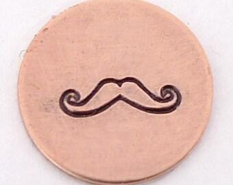 Mustache Metal Design Stamp 6mm - Handstamping Metal Jewelry Tool The Urban Beader