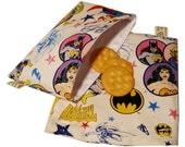 SuperGirls Reusable Sandwich and Snack Bag Set