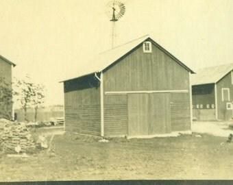 Antique Farm Barns Windmill Wagon Cart Photo Photograph Landscape Snapshot