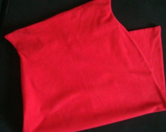 Avant Garde Lipstick Red Side Tail Skirt with Pointed Edges- Small