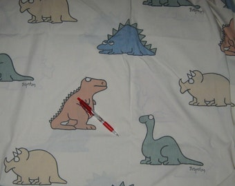 Vintage Boynton  Dinosaurs  twin flat    bed sheet