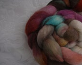 MONSTER SALE! Handpainted Falkland Roving - 100g - Monster Kettle 6     locAB