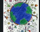 Happy Earth - Blank Greeting Card