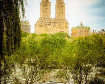 Rowboat photo nyc New York City Central Park Lake boat autumn fall summer skyline manhattan nyc38