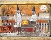 TRICK or TREAT - Primitive Halloween Postcards