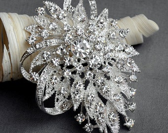 Rhinestone Brooch Crystal Brooch Embellishment Wedding Brooch Bouquet Cake Hair Comb Shoe Clip Supply BR063