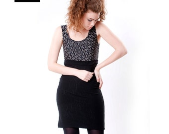 Little Black Dress, Jersey Tank Mini Dress,  50 % Sale