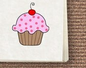 Cupcake Printable Stationery, Notecards, Tags/Stickers template, pdf printable file