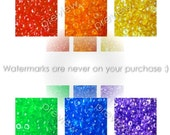 Rainbow Bubble Colorful Cabochons Royalty Free Stock Photography - 6 High Resolution Photos Six Images in Two PDF Files - Instant Download
