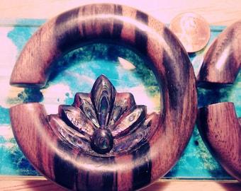 "Paua Inlay Lotus Hoop 1/2"" Ear Plugs"