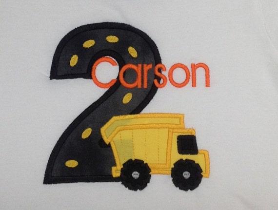 Greatstitch Dump Truck 1st Birthday Shirt Boy 2nd 3rd