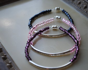 Simple/stackable bracelet set