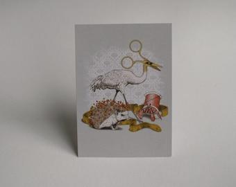 Alice's Sewing Basket Postcard