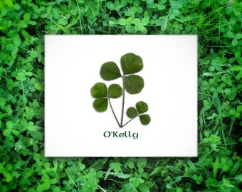 Irish personalized art, shamrock family, Irish wedding gift, Irish anniversary, Irish housewarming, engagement gift, Irish baby,Irish family