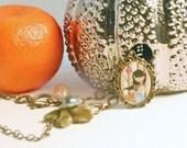 OOAK Woodland Charm Necklace Girl Art