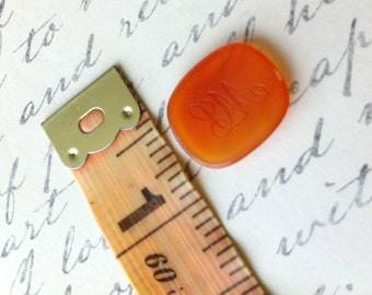 Amber Intaglio Wax Seal Unset Monogram Fob Stone