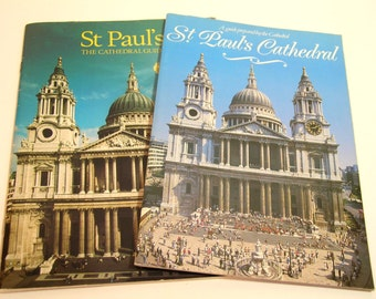 Two Vintage Tourist Books St Paul's Cathedral Guides