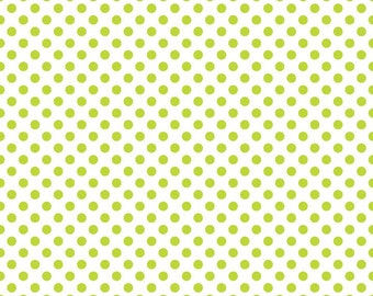 Lime Dots on White Small by Riley Blake Designs