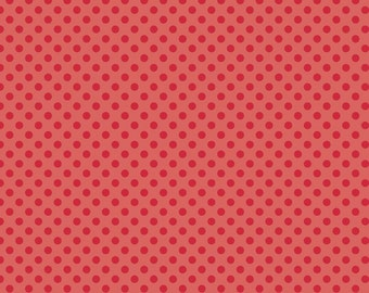 Red Tone on Tone Small Dot by Riley Blake - 1 Yard
