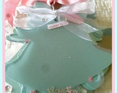 Premade Wedding Bell Shaped Acrylic Scrapbook Pastels
